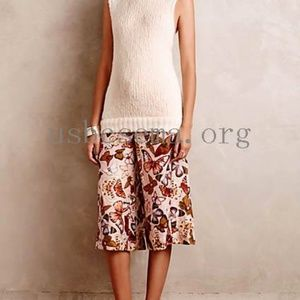 Elevenses mariposa butterfly silk culottes.